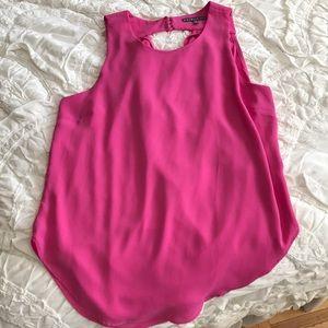 Very nice pink sleeveless blouse